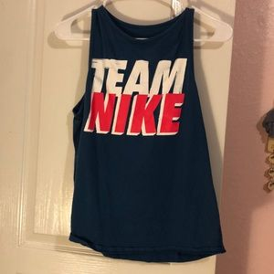 Baby blue team Nike work out shirt
